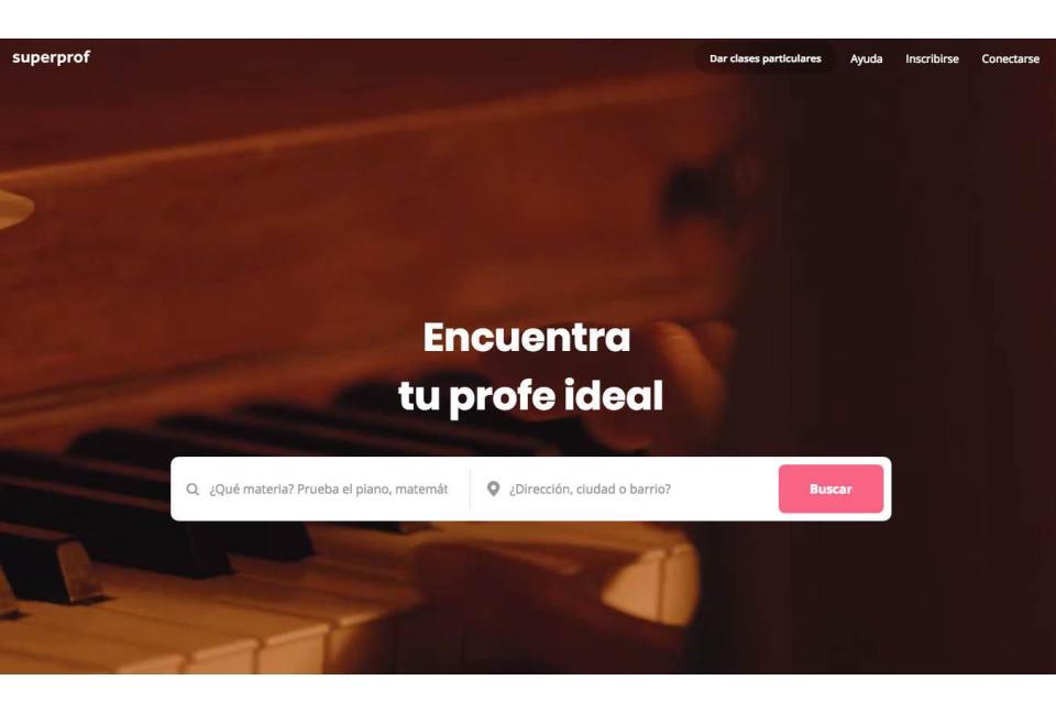 SUPERPROF: busca tu profesor de música sin salir de casa
