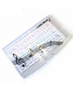 12 lápices de colores Notas Musicales