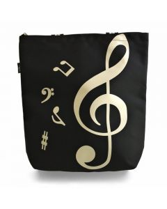 Treble Clef black tote bag