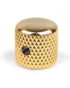 Botón potenciómetro metal curvado dorado