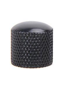 Botón potenciómetro metal curvado negro