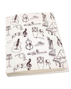 Plastic file folder musical instruments