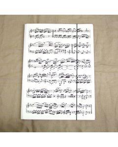 Folder size A4, white score