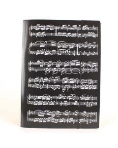 Carpeta A4 negra partitura