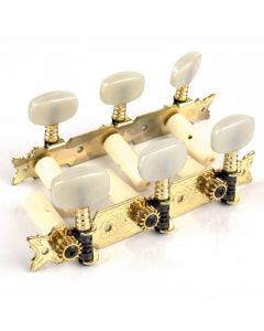 Clavijero fustero para guitarra clásica dorado sin lira