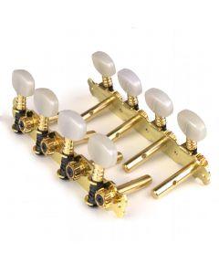 Clavijero fustero dorado para mandolinas de pala abierta.