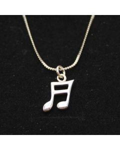 Semiquaver 3D pendant (sterling silver)