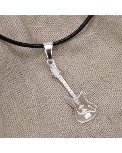 Electric Bass Pendant Sterling Silver