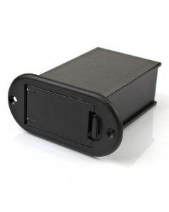 Compartimento externo empotrable para pila de 9V