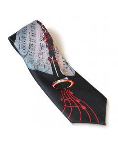 Black oboe tie
