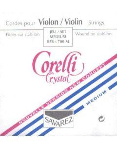 Violin string set  3/4 Corelli Crystal