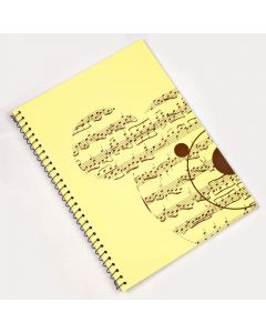 Music notebook, Teddy Bear design