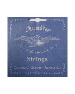 Cuerdas para guitarra clásica de la marca Aquila, modelo Alabastro, hechas de Nylgut, tensión normal.