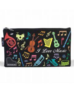 Estuche instrumentos musicales multicolor plano