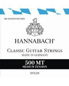 juego de cuerdas para guitarra clásica marca Hannabach tensión normal