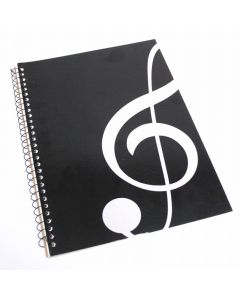 Music notebook, Treble Clef design