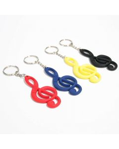 Treble Clef Keychain, colors
