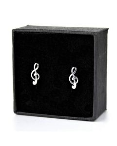 Treble Clef mini earrings 2 (sterling silver)