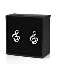 Treble Clef mini earrings 4 (sterling silver)