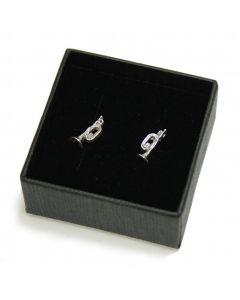 Cornet mini earrings (sterling silver)