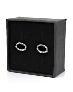 Tambourine mini earrings (Sterling Silver)