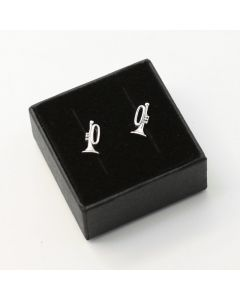 Trumpet mini earrings (sterling silver)