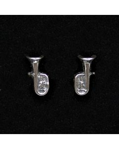Tuba Mini Earrings (sterling silver)