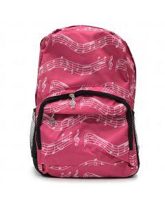 Motxilla partitura rosa