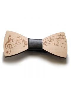 Wooden bow tie black