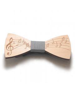 Wooden bow tie grey