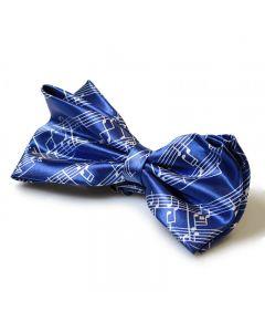 Blue Score Bow Tie