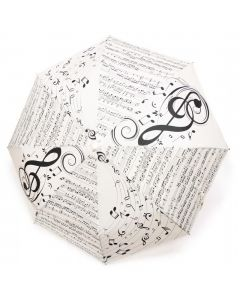 White Treble Clef Umbrella