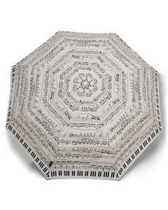 Paraigües Piano crema plegable