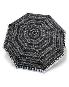 Paraigües Piano negre plegable