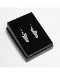 Harp earrings (sterling silver)