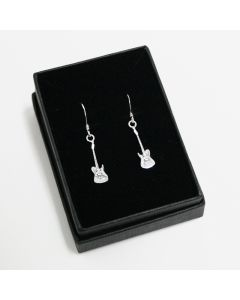 Electric guitar earrings (sterling silver)