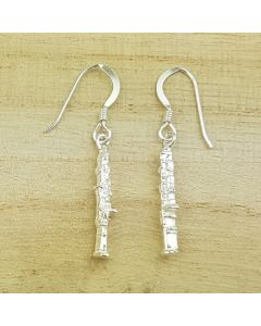 Oboe earrings (Sterling Silver)
