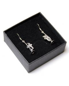 Sterling Silver Trumpet Earrings
