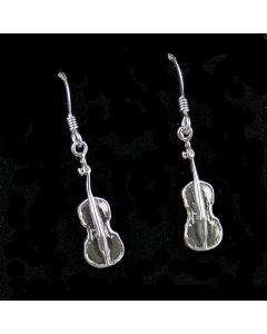 Sterling Silver Cello Earrings