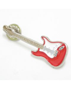 Pin Guitarra Stratocaster vermella