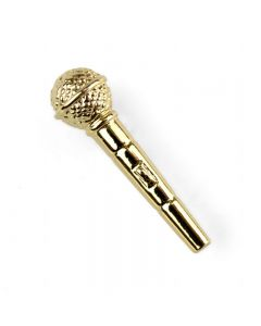 Microphone Lapel Pin (gold-plated)