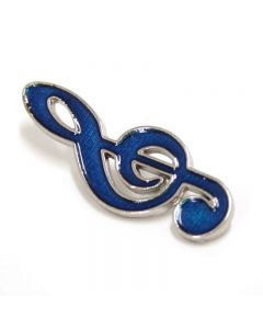 Treble Clef Lapel Pin blue