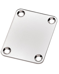 Neck holding plate, chrome plated