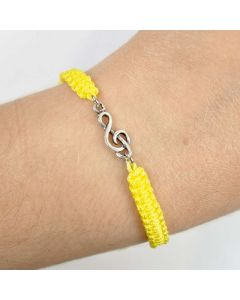Treble Clef bracelet sterling silver yellow
