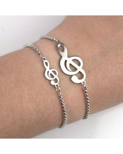 Treble Clef Bracelet Stainless Steel