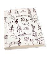 Plastic file folder musical instruments