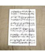 Carpeta con diseño de partitura musical