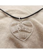 Music Heart Pendant Sterling Silver