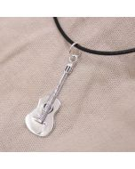 Classic Guitar Pendant Sterling Silver