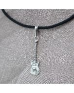 Electric Guitar Pendant Sterling Silver